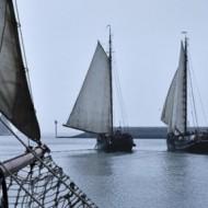 De haven van Harlingen uit